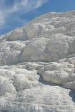 Texture de pierre à chaux de Pamukkale Image stock