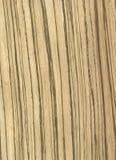 Texture de placage de Zebrawood Photographie stock