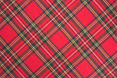 Texture de plaid de tissu Photos stock