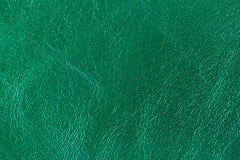 Texture de plan rapproché de cuir véritable, couleur d'émeraude de mode Pour le modèle moderne, conception de papier peint ou de  Images libres de droits