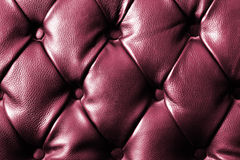 Texture de plan rapproché de sofa de cuir de noir de cru Photos stock