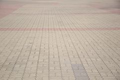 Texture de plancher de brique de ciment Photographie stock libre de droits