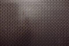 Texture de plancher en acier, noire et blanche Images stock