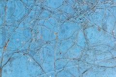 Texture de plaque métallique et fond de peinture bleue Photos stock