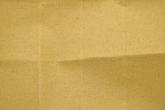 Texture de pli de papier de Brown Photos libres de droits