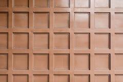 Texture de porte en métal de Brown Image stock