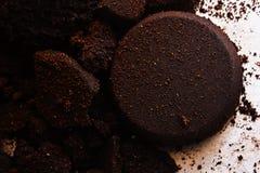 Texture de poudre de café images stock
