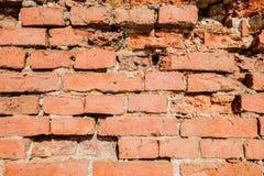 Texture de ruine de mur de briques rouges Briques cassées Photos libres de droits