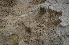 Texture de sable de chantier de construction Photos stock