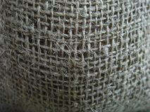 Texture de sac à toile de jute Images stock