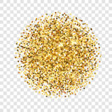 Texture de scintillement d'or Sparcle d'or sur le fond transparent Particules ambres Contexte de Luxory Photo libre de droits