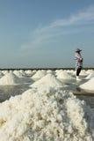 Texture de sel avec le fermier Image libre de droits