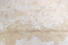 Texture de surface de mur peinte par blanc rocailleux de stuc Fond de cru photos stock