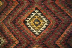 Texture de tapis traditionnel bédouin de laine avec le bagout géométrique photo libre de droits