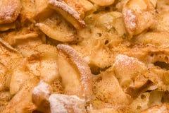 Texture de tarte aux pommes Photo stock