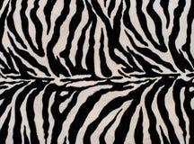 Texture de textile noir et blanc de zèbre Photos libres de droits