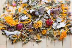 Texture de thé de fines herbes Images libres de droits