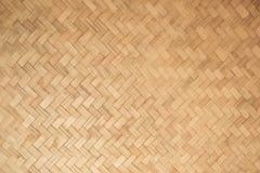 Texture de tissage de bambou brun de plan rapproché Images stock