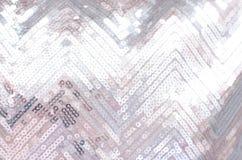 Texture de tissu avec miroiter les paillettes argentées photo stock