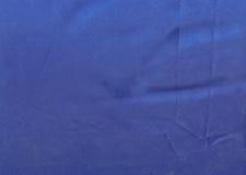 Texture de tissu bleu-foncé de satin Photographie stock