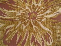Texture de tissu décoratif avec un modèle des fleurs images libres de droits