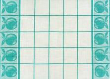 Texture de tissu de coton avec un modèle de vert Images libres de droits