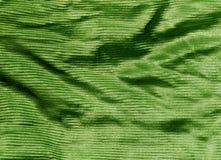 Texture de tissu de couleur verte Photos libres de droits