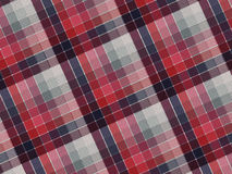 Texture de tissu de plaid Images libres de droits