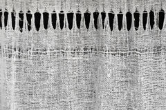 Texture de tissu de toile de fabrication domestique Image stock