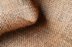 Texture de tissu de toile de jute Photographie stock libre de droits