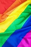 Texture de tissu du drapeau gai Photographie stock libre de droits