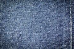 Texture de tissu de jeans de denim ou fond de jeans de denim avec la couture pour la conception Photos libres de droits