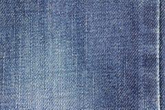Texture de tissu de jeans de denim ou fond de jeans de denim avec la couture pour la conception Photographie stock libre de droits
