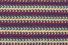 Texture de tissu de laine de tricotage rayé Images stock
