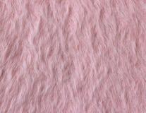 Texture de tissu laineux rose mou (angora) Images stock