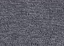Texture de tissu noir et blanc tricoté Image stock