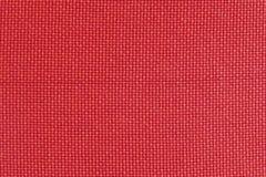 Texture de tissu rouge, rudement tissée, fond Image stock