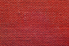 Texture de tissu rouge rugueux Photo libre de droits