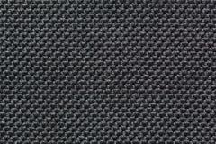 Texture de tissu rugueux synthétique noir Images libres de droits