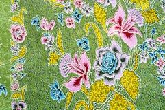 Texture de tissu thaï traditionnel général Image stock
