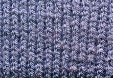 Texture de tissu tricoté Fils échoués Tissu des vêtements chauds d'hiver Images stock