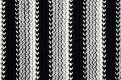 Texture de tissu tricoté rayé Photo stock