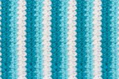 Texture de tissu de tricotage de laine avec les rayures verticales Photographie stock libre de droits