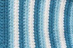 Texture de tissu de tricotage rayé Photo stock
