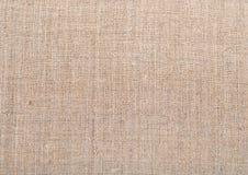 Texture de toile de tissu de toile de jute de cru normal Images libres de droits
