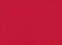 Texture de toile rouge de tissu Images libres de droits