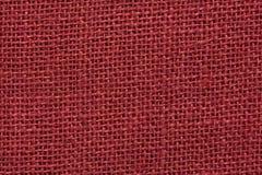 Texture de toile rouge foncé Images stock