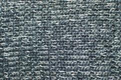 Texture de tricotage de fond, couleur grise Photo libre de droits