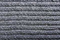 Texture de tricotage grise Photos libres de droits