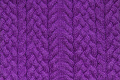 Texture de tricotage mauve-foncé Photo libre de droits